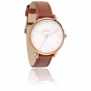 Reloj Kensington Piel y PVD oro Rosa- A108-1045