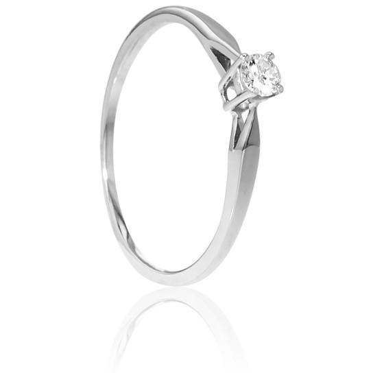 1bf7b64f3458 Anillo compromiso oro blanco y diamante Emanessence - Ocarat