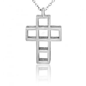 Collar Cruz Romana Plata