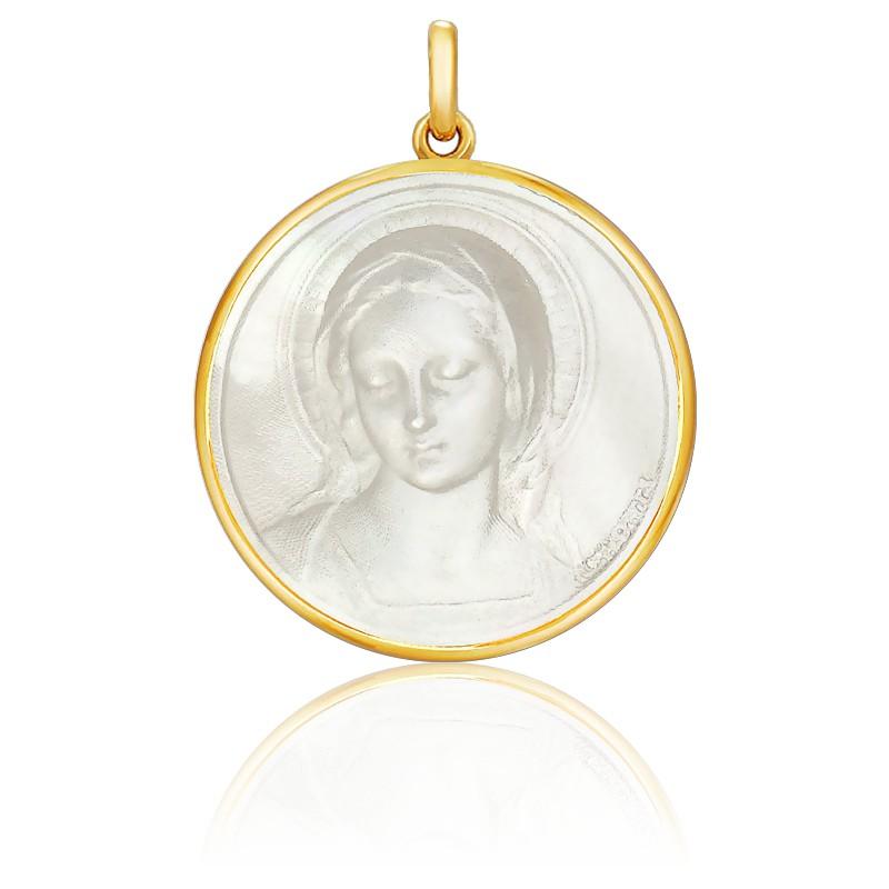 Medalla Virgen Nácar redonda