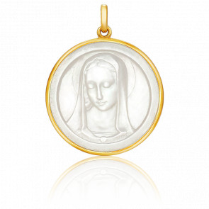 Medalla Santa Madona Nácar
