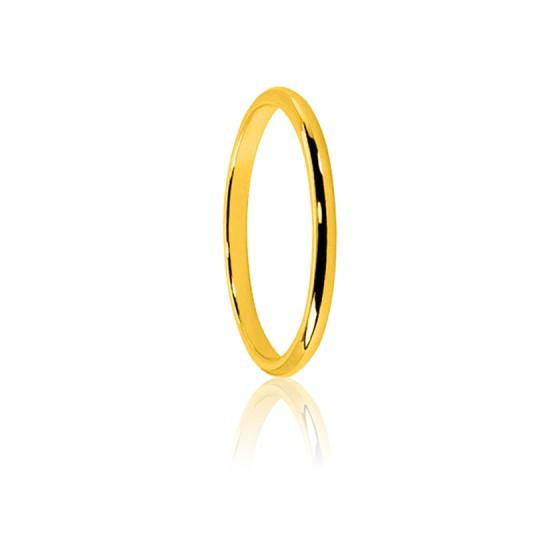 410b5c95c772 Alianza de boda media caña oro amarillo 18K Ponce - Ocarat
