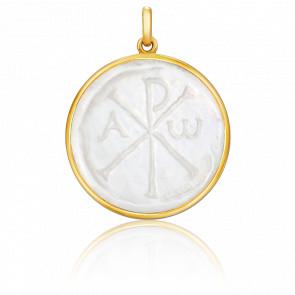 Medalla Crismón Nacar y oro