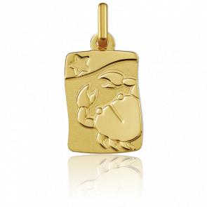 Medalla Horóscopo Cáncer Oro amarillo 9k