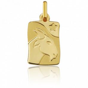 Medalla Horóscopo Capricornio Oro amarillo 9k