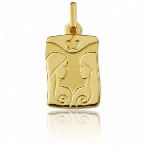 Medalla horóscopo Géminis Oro amarillo 9k