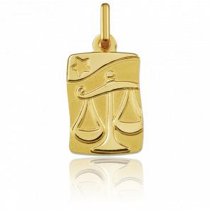 Medalla Horóscopo Libra Oro amarillo 9k