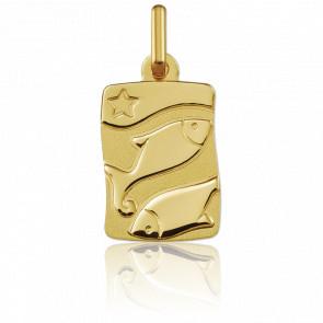 Medalla horóscopo Piscis Oro amarillo 9k