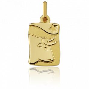 Medalla horóscopo Tauro Oro amarillo 9k