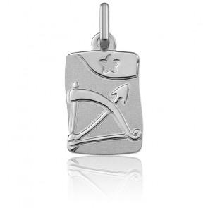 Medalla horóscopo Sagitario Oro Blanco 9k