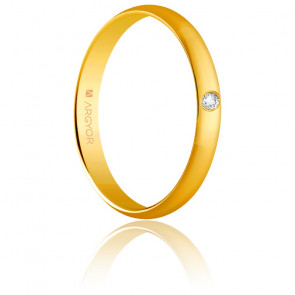 Alianza Nicole Oro amarillo y Diamante 3,00mm