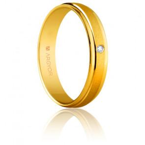 Alianza Claudia Oro amarillo y Diamante 4,00mm