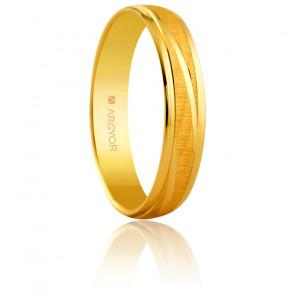 Alianza Rosa Oro Amarillo 4,00mm