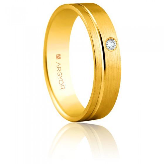 0db6cb08cc60 Alianza Argyor de oro amarillo y diamante 5 mm - Ocarat