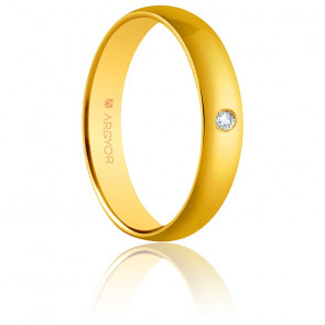 Alianza Irene Oro Amarillo y Diamante 4,00mm