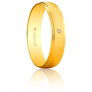 Alianza Alexa Oro Amarillo y Diamante 4,50mm