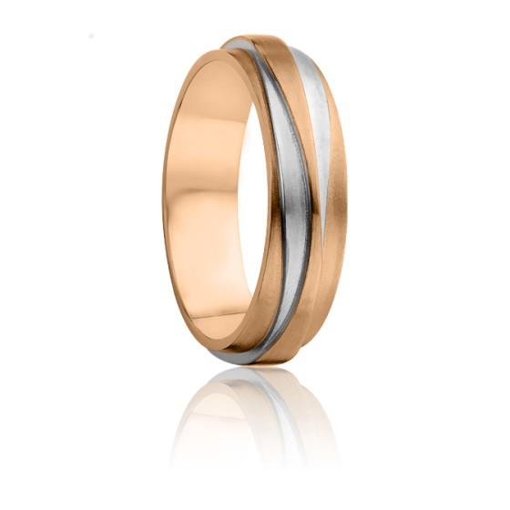 fab98e797f4b Alianza de oro rosa y oro blanco - Ocarat