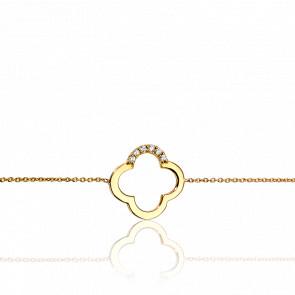 Pulsera 4 Arcos Oro Amarillo y Diamantes