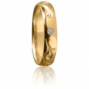 Alianza Majesté Oro amarillo y diamante