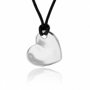 Colgante Coeur 1 Agujero Plata para Grabar