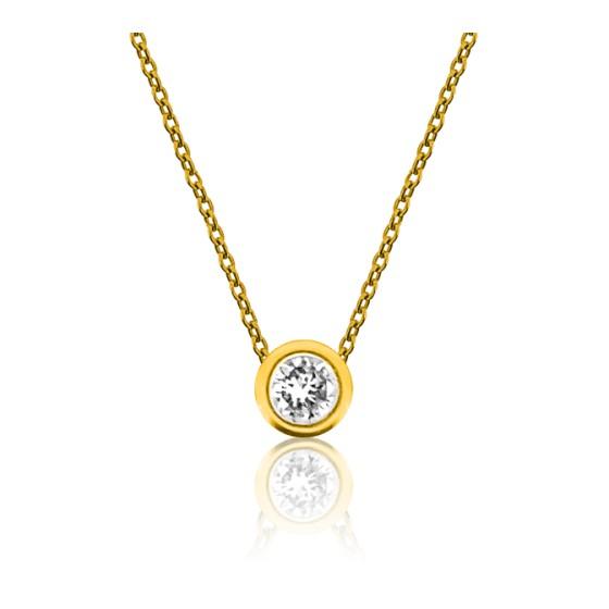 a577a64fec5c Collar Oro amarillo y Diamante 0