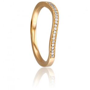 Anillo Diamantado Oro Rosa y Diamantes
