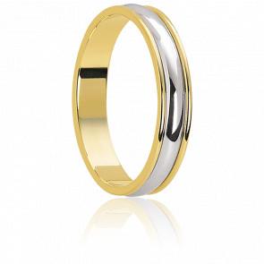 Alianza Oro Amarillo 18k y Platino 3,2mm, Mesange