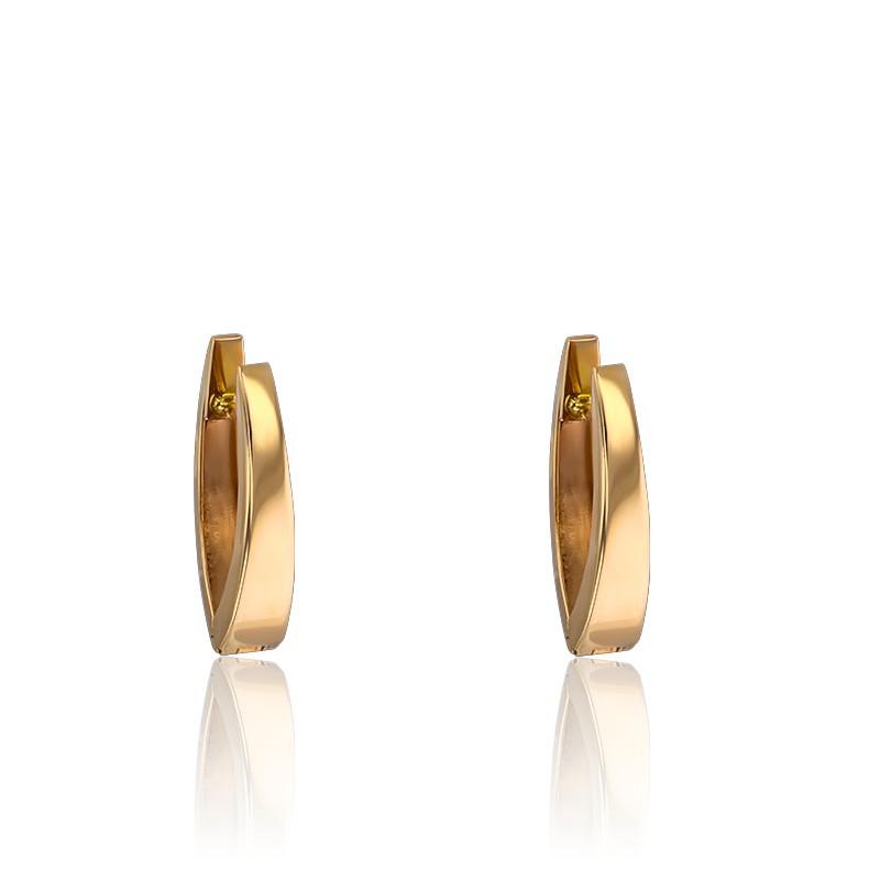 Pendientes aros pequeños unidos Oro amarillo 18k, Vandona