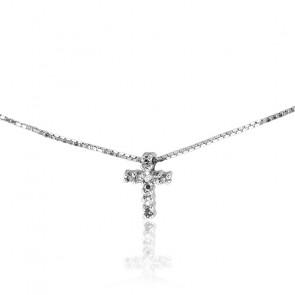 Collar Oro Blanco 9k pavé de Diamantes