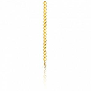 Cadena de Bolas juntas 45 cm de oro 18 quilates