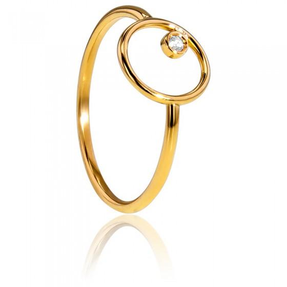a9462d5c9956 Alianza Oro Amarillo 18kt y Diamante en círculo- Bellon - Ocarat