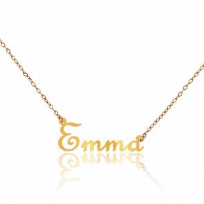 Collar Nombre Emma Oro Amarillo 9 kt