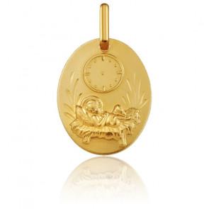 Medalla Ovalada Niño Jesús Oro Amarillo