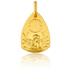 Medalla Triangular Ángel Rafael y Reloj Oro Amarillo