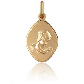 Medalla Rombo Ángel con Estrella Oro Amarillo