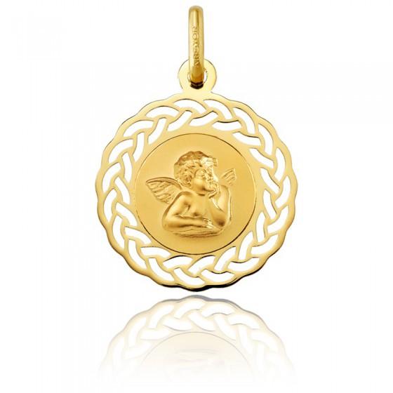 11d06bd063d0 Medalla de comunión oro amarillo 18K calada Ángel - Argyor - Ocarat