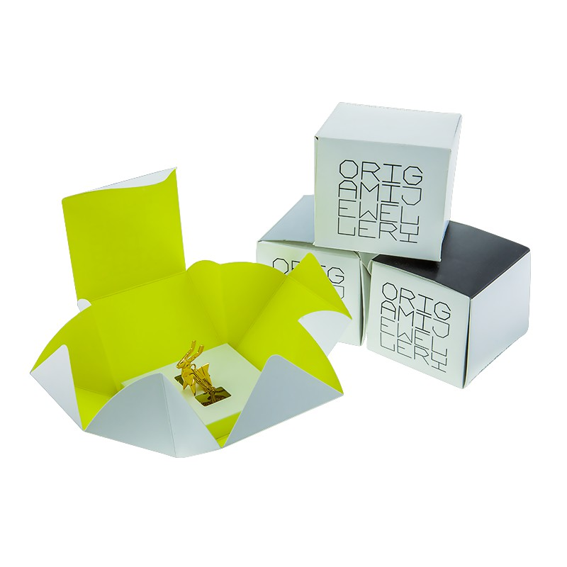Collar de plata dorado punta de diamante-Origami Jewellery - Ocarat