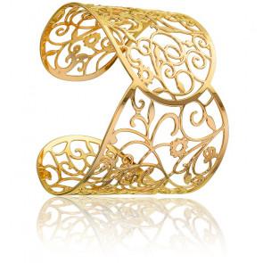 Brazalete Arabesco Floral Dorado