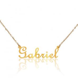 Collar Nombre Gabriel Oro Amarillo 18K
