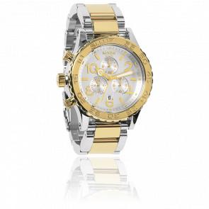 Reloj The 42-20 Chrono Silver / Champ Gold
