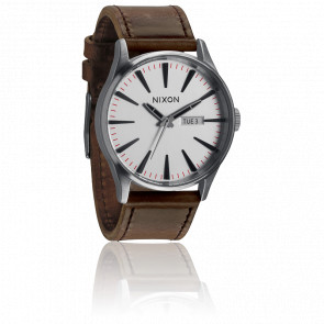 Reloj The Sentry Leather Silver / Brown