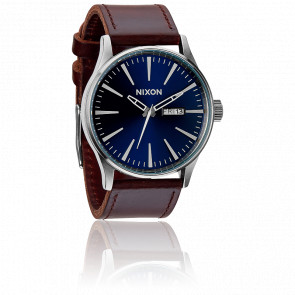 Reloj The Sentry Leather  Blue / Brown - A105 1524