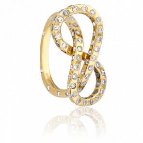Anillo Moebius Oro Amarillo y Diamantes