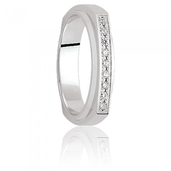 40511191b2d9 Alianza Pulu 4 mm Oro Blanco   Diamantes