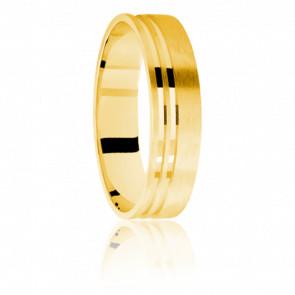 Alianza Anémone 5 mm Oro Amarillo