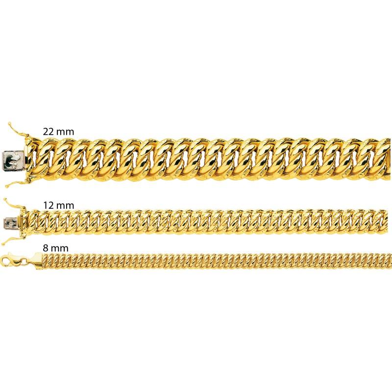 aac9257854a7 Pulsera de oro 18kt Cadena Americana 19 cm - Manillon - Ocarat