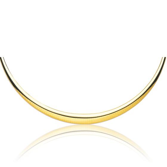 019323a814a2 En Stock Collar Cascada Omega Bombeado Hueco 42 cm oro amarillo 18 kt