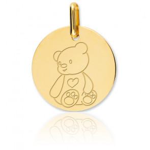 Medalla Osito Oro Amarillo