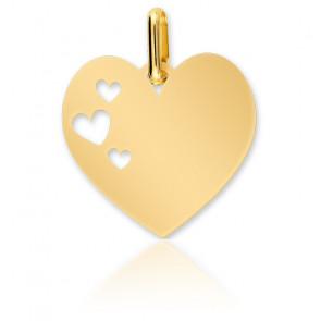 Medalla Corazón Calado Oro Amarillo 18K