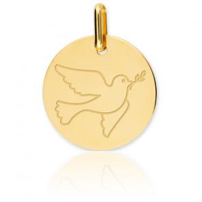 Medalla Paloma Oro Amarillo